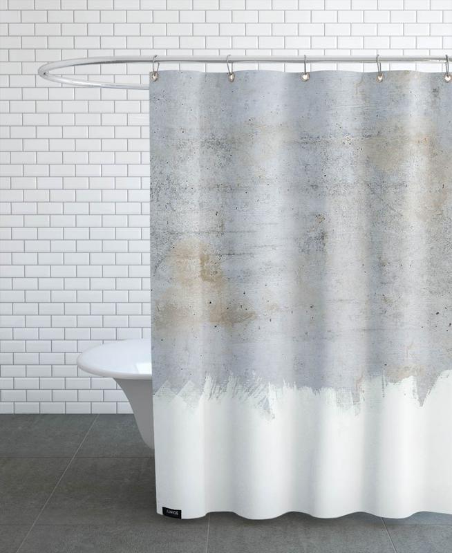 Concrete Style Shower Curtain