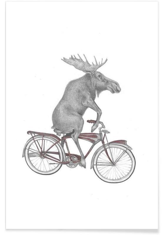 Elch-Zeichnung -Poster