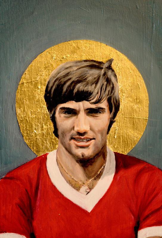 Football Icon - George Best Impression sur alu-Dibond