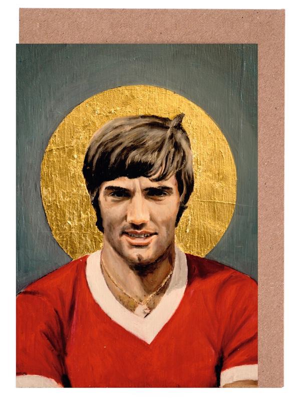Football Icon - George Best cartes de vœux