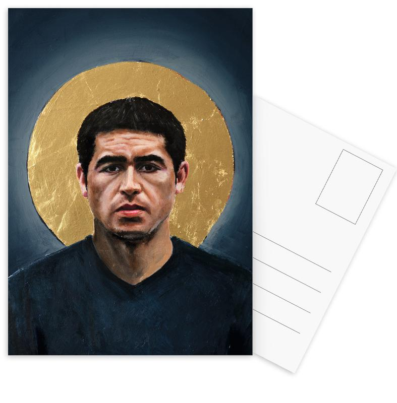 Football Icon - Juan Roman Riquelme -Postkartenset