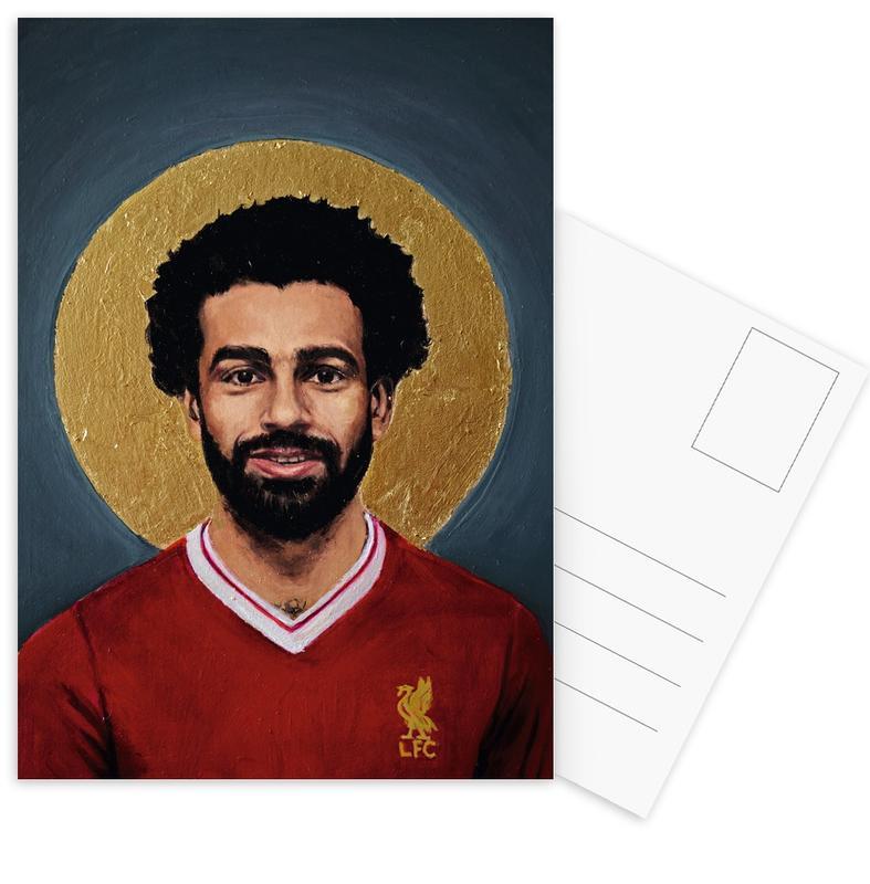 Football Icon - Mohamed Salah -Postkartenset