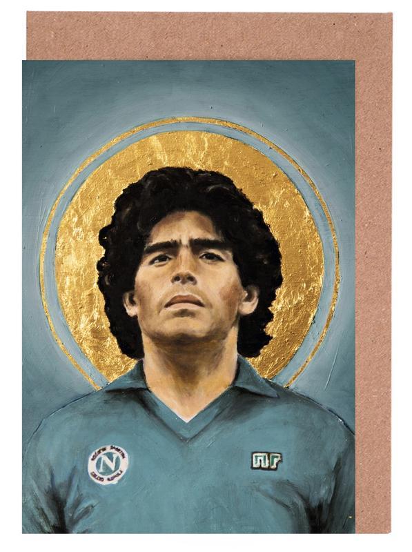 Football Icon - Diego Maradona -Grußkarten-Set