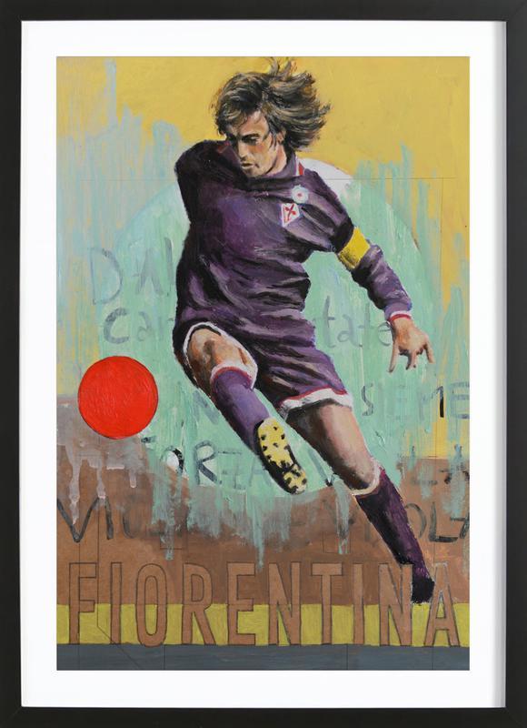 One Love - Fiorentina -Bild mit Holzrahmen
