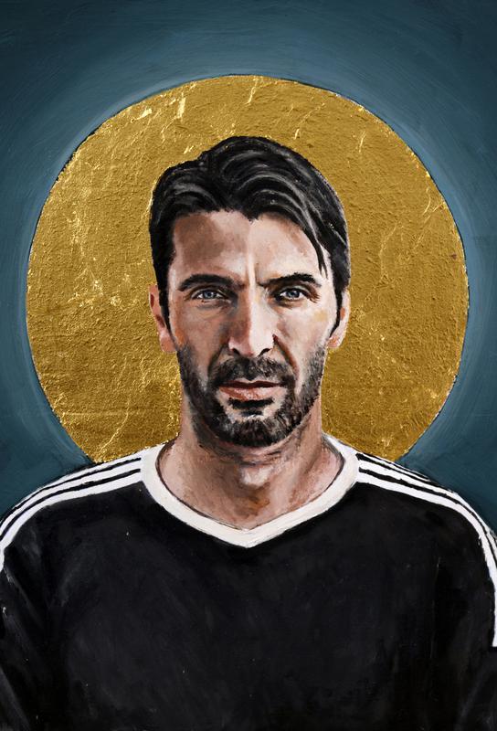 Football Icon - Buffon tableau en verre