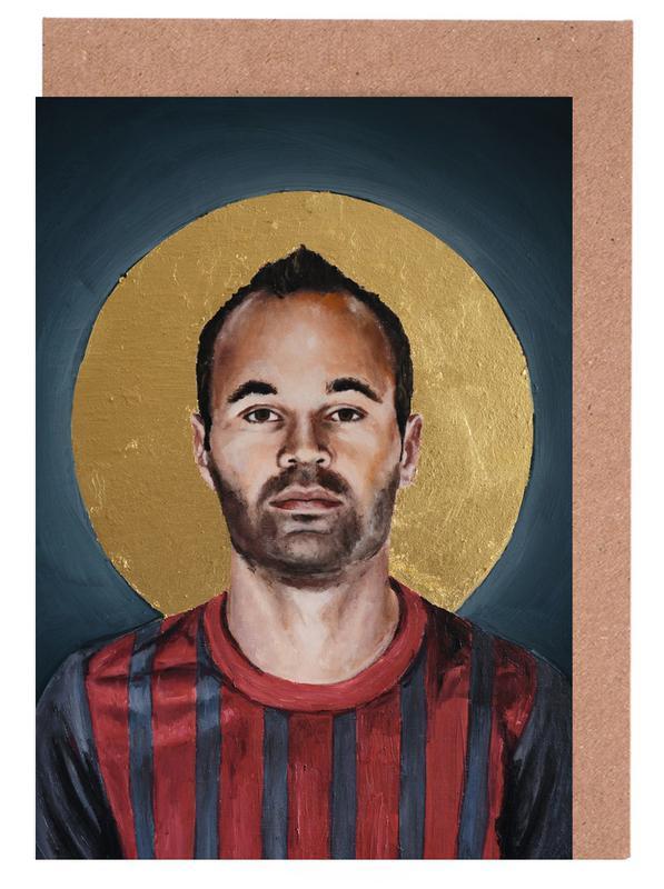 Football Icon - Iniesta cartes de vœux