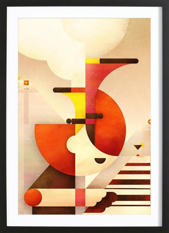 Jazzman -Bild mit Holzrahmen
