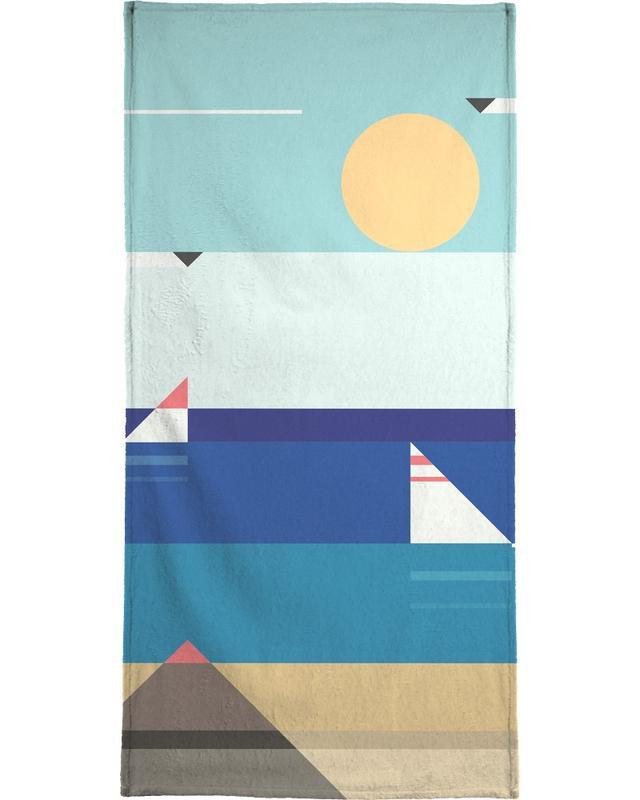 Quiet Sea Beach Towel