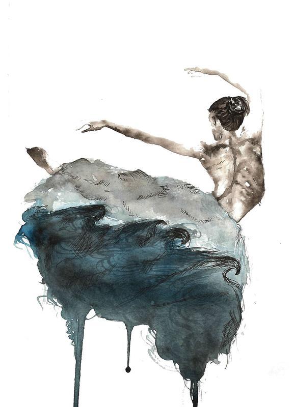 Ballerina -Leinwandbild