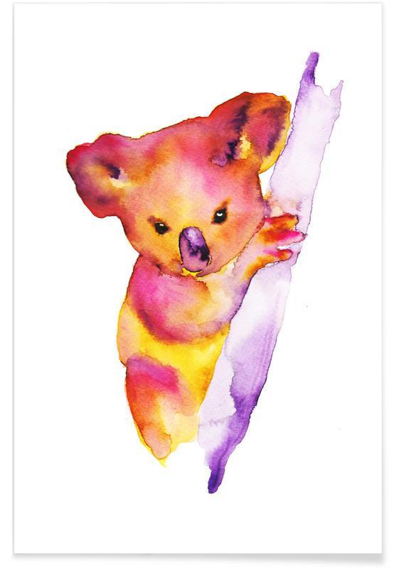 Koala Watercolour Poster