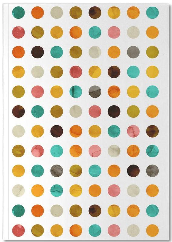 Autumnal Polka Dot Notebook