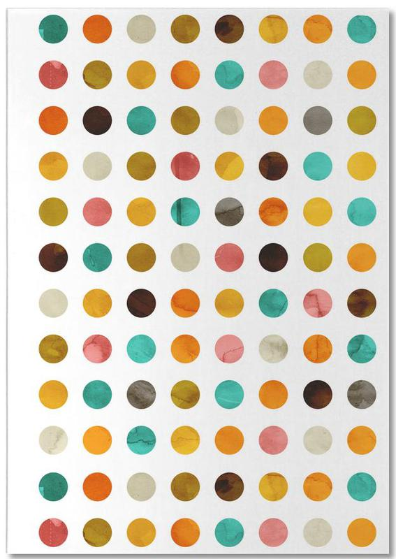 Autumnal Polka Dot -Notizblock
