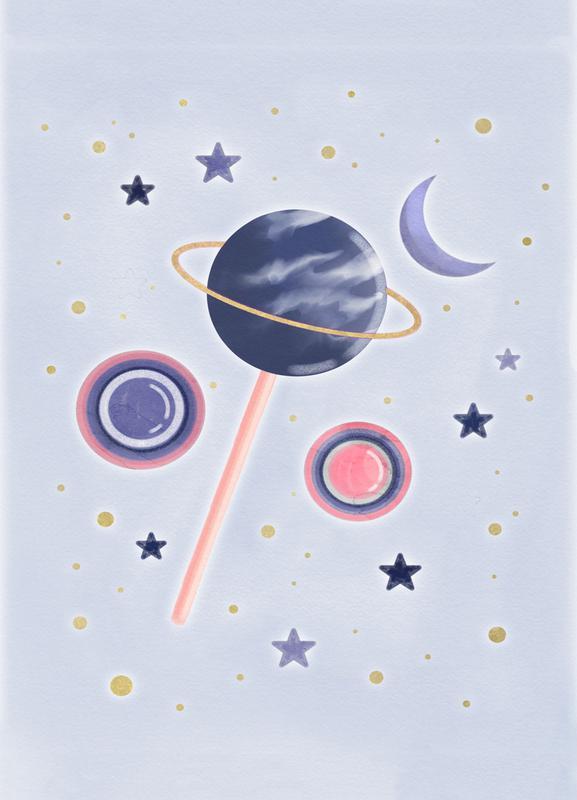 Lollipop Planet -Leinwandbild