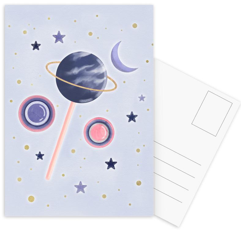 Lollipop Planet -Postkartenset