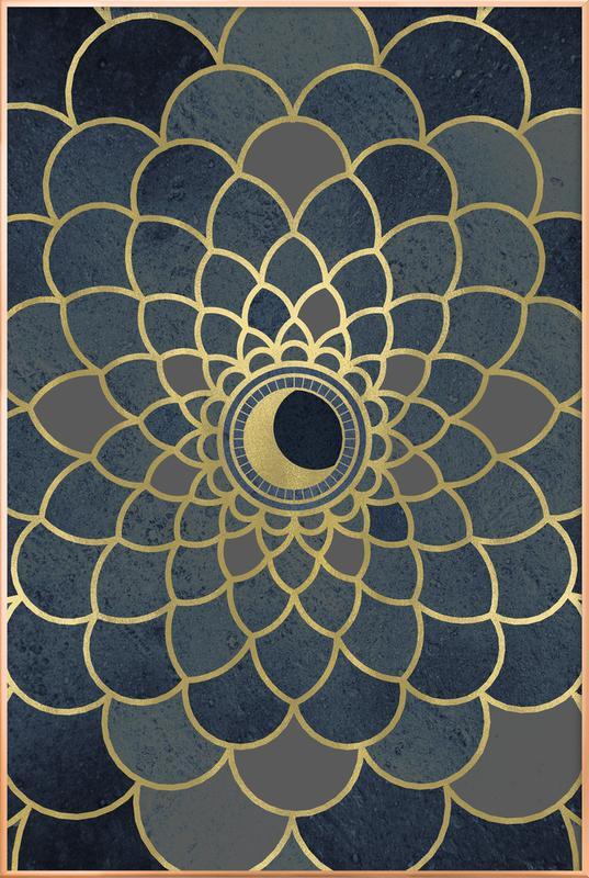 Mystic Moon -Poster im Alurahmen