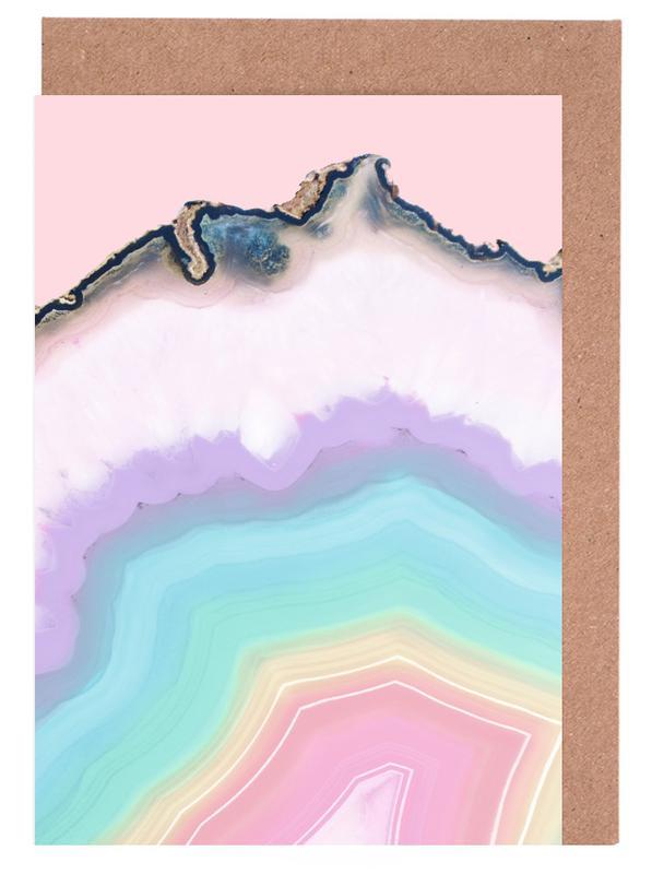 Rainbow Agate -Grußkarten-Set