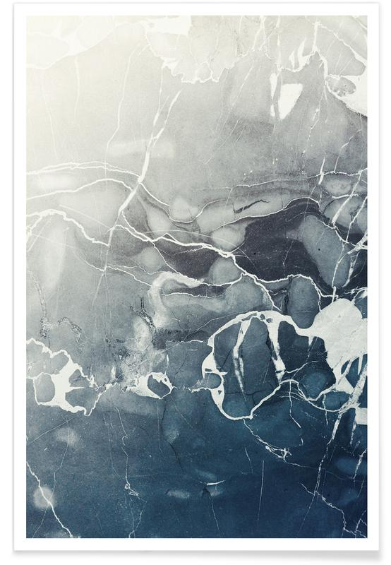 Blue Sea Marble -Poster