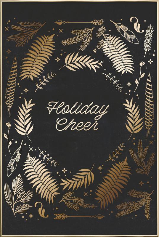 Holiday Cheer -Poster im Alurahmen