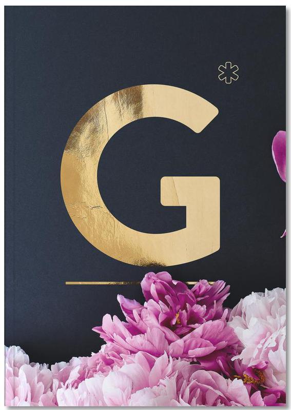Flower Alphabet G Notebook