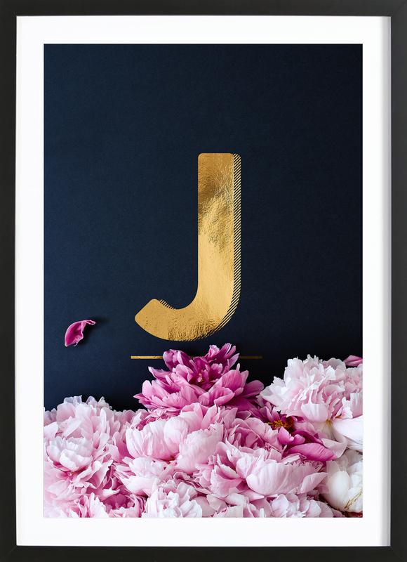 Flower Alphabet J Framed Print