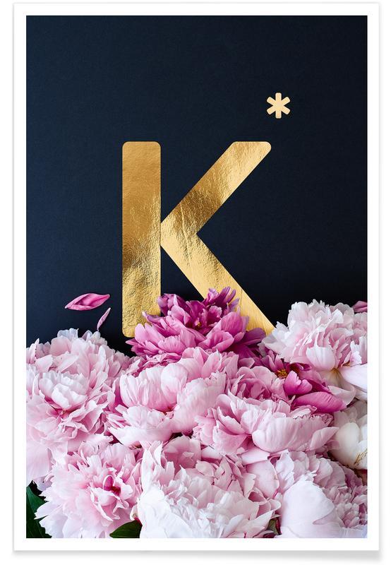 Flower Alphabet K Poster