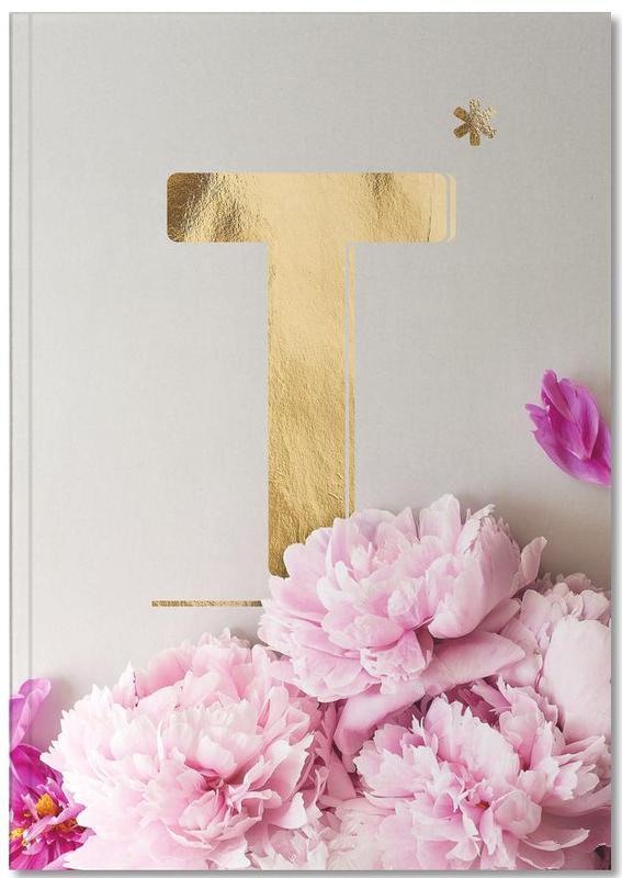 Flower Alphabet T Notebook