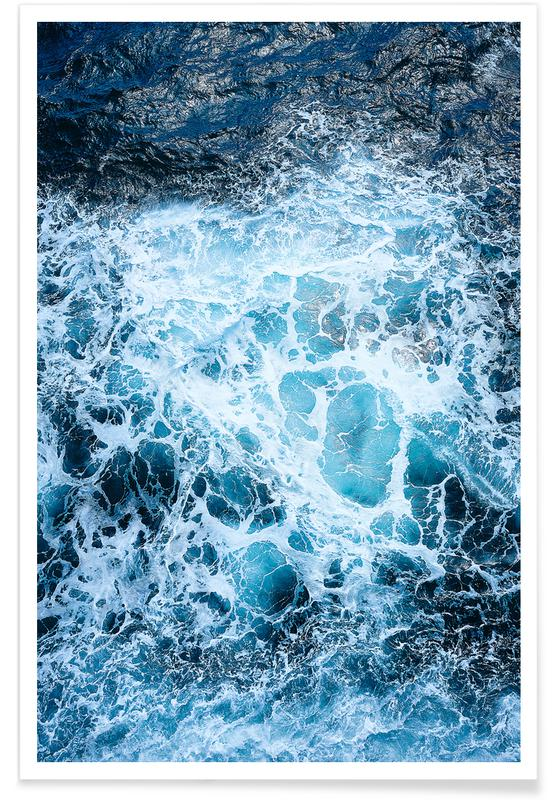 Blautöne des Meeres III affiche