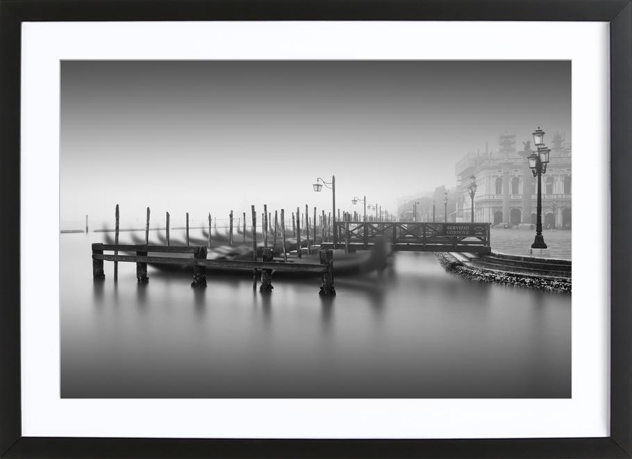 Venedig - Gondola Study 2 -Bild mit Holzrahmen