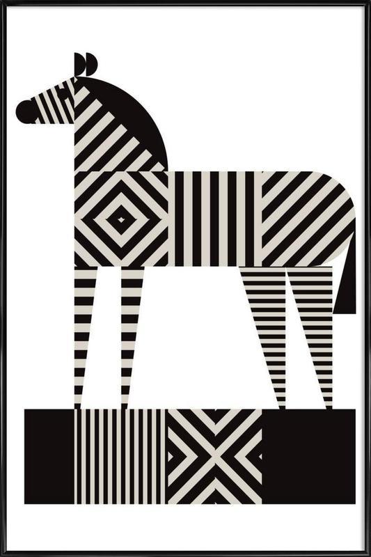 Zebra Stripe -Bild mit Kunststoffrahmen
