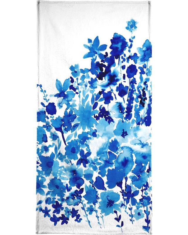 Floral Blue -Handtuch