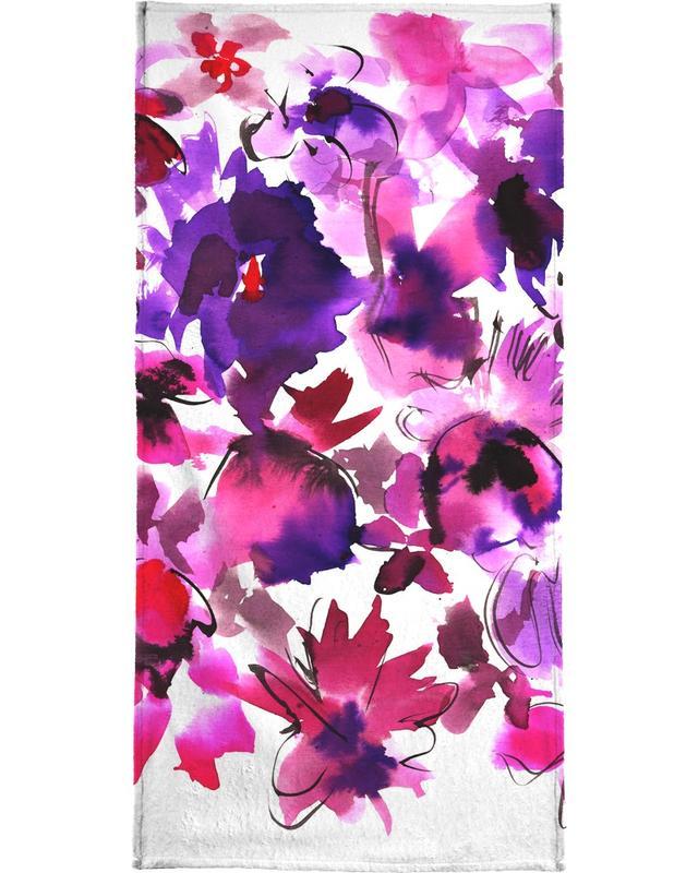 Sara Pink Floral -Handtuch