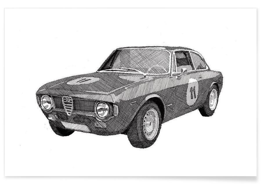 Alfa Romeo - potloodtekening poster