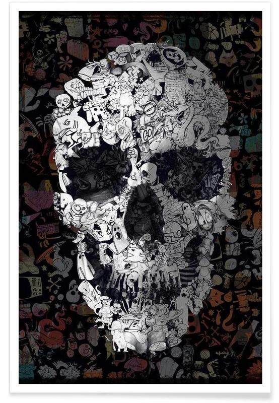 Doodle Skull -Poster