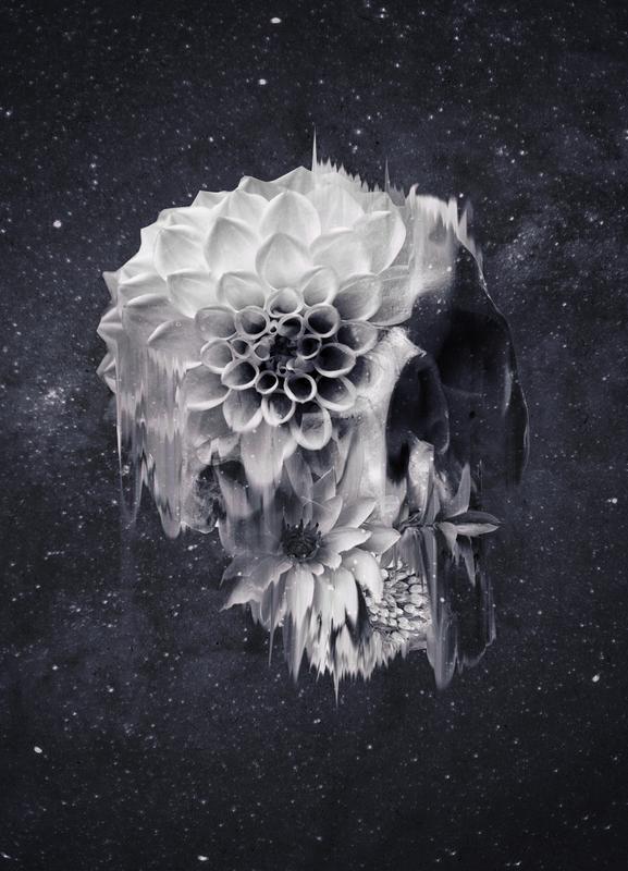 Decay Skull Canvas Print