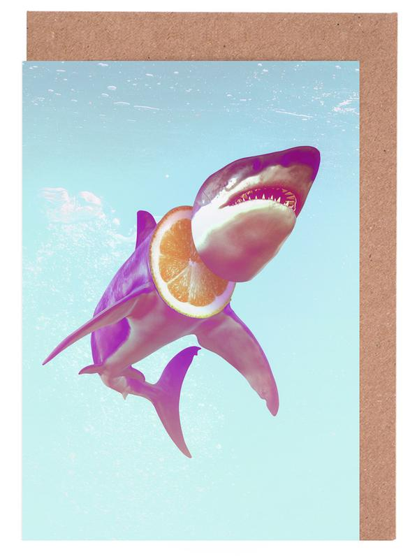 Lemon Shark Greeting Card Set