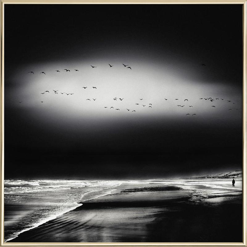 The Song Of The Wet Sands - Piet Flour poster in aluminium lijst
