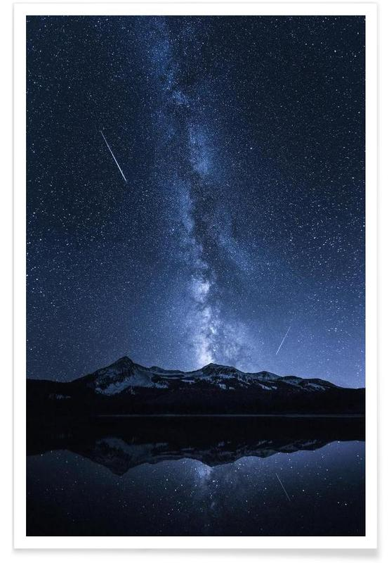 Galaxies Reflection - Toby Harriman Poster