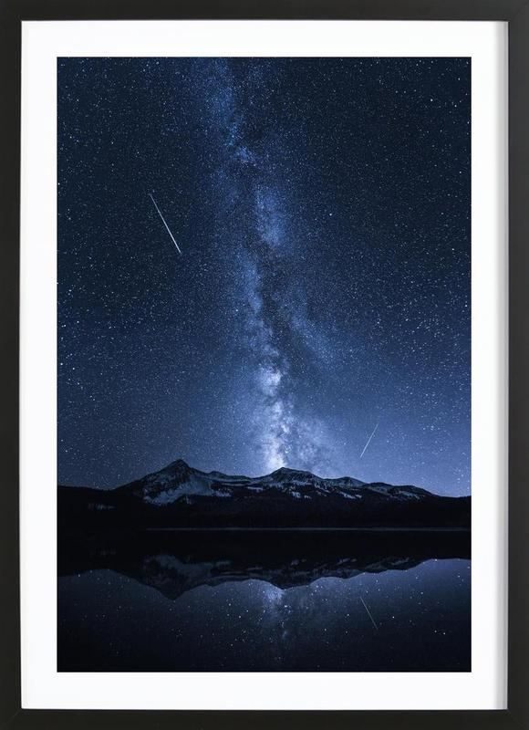 Galaxies Reflection - Toby Harriman -Bild mit Holzrahmen