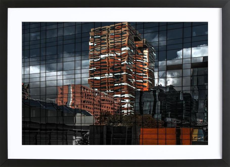 Puzzle Reflection - Gilbert Claes Framed Print