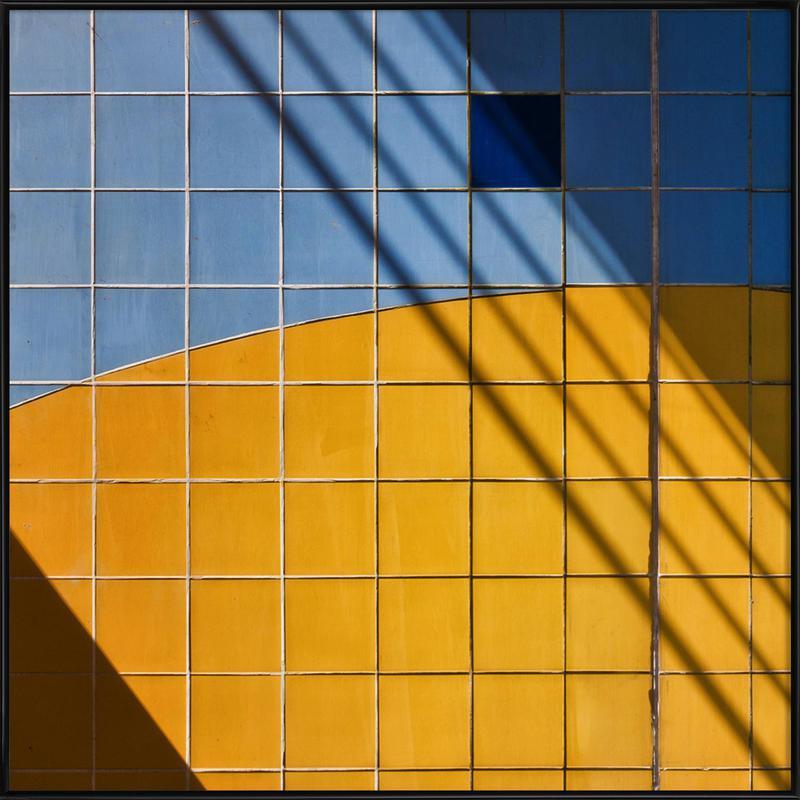 Square-\-Shadow - Henk Van Maastricht -Bild mit Kunststoffrahmen