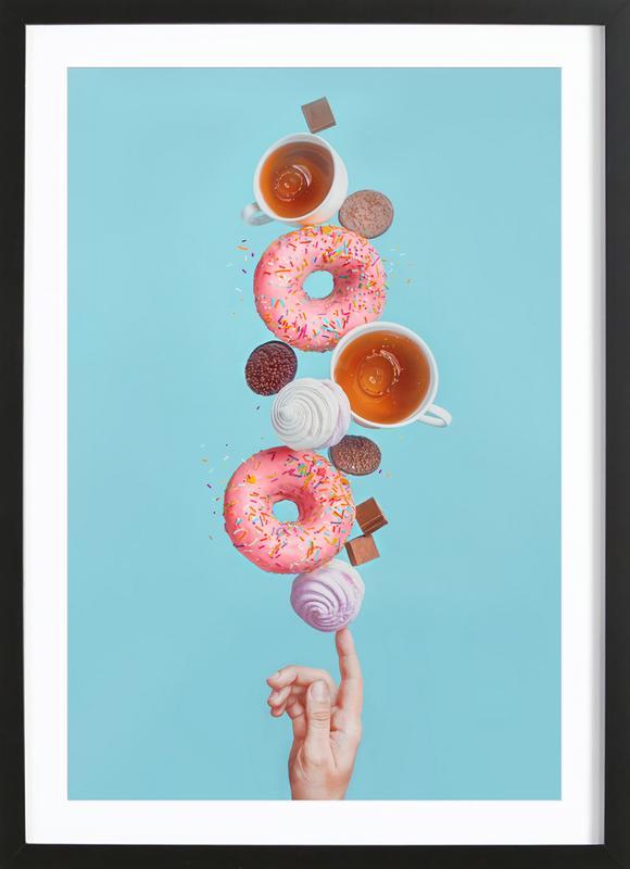 Weekend Donuts - Dina Belenko -Bild mit Holzrahmen