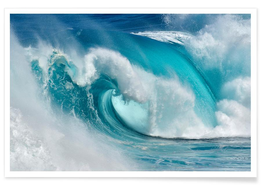 When the Ocean Turns Into Bue Fire - Daniel Montero -Poster
