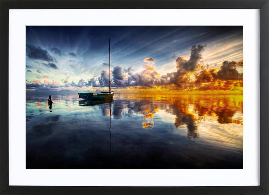 A Time for Reflection -Bild mit Holzrahmen