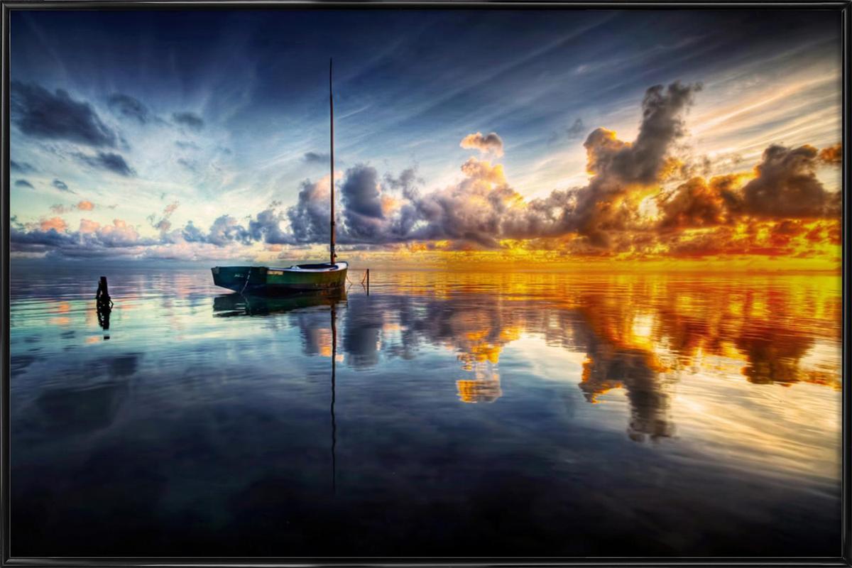 A Time for Reflection -Bild mit Kunststoffrahmen