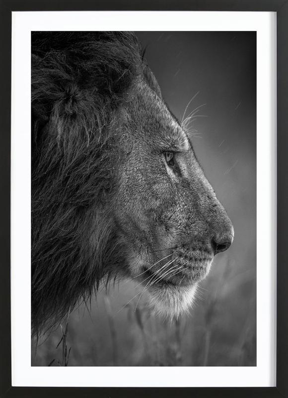 Thinking under the Rain - Faisal Alnomas Framed Print