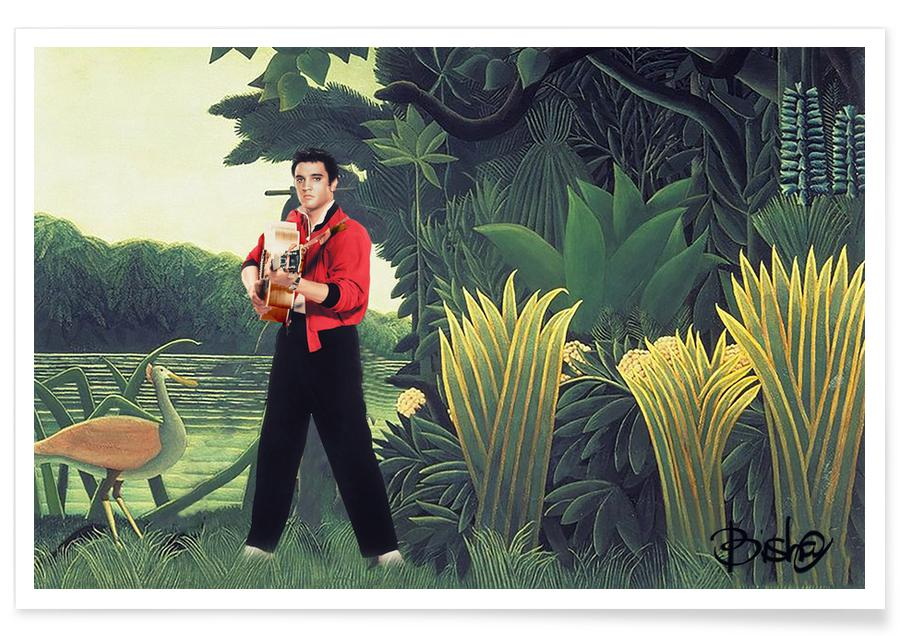 An Elvis Rousseau Jungle Poster