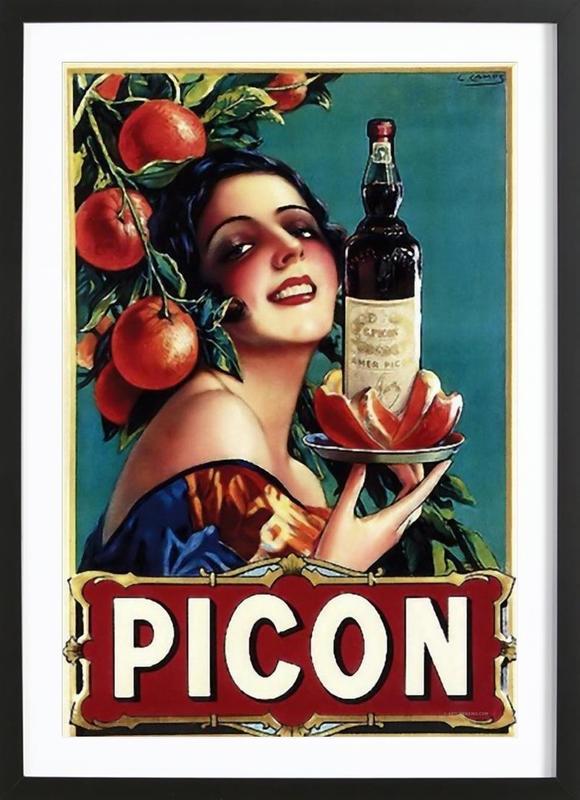 Picon Liquor affiche sous cadre en bois