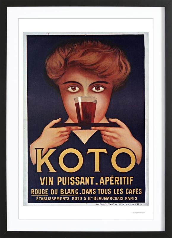 Koto affiche sous cadre en bois
