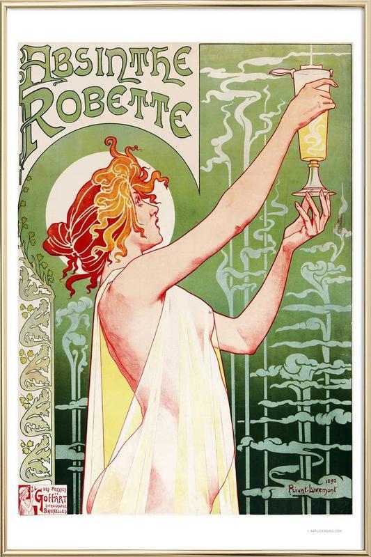 Absinthe Robette Poster in Aluminium Frame