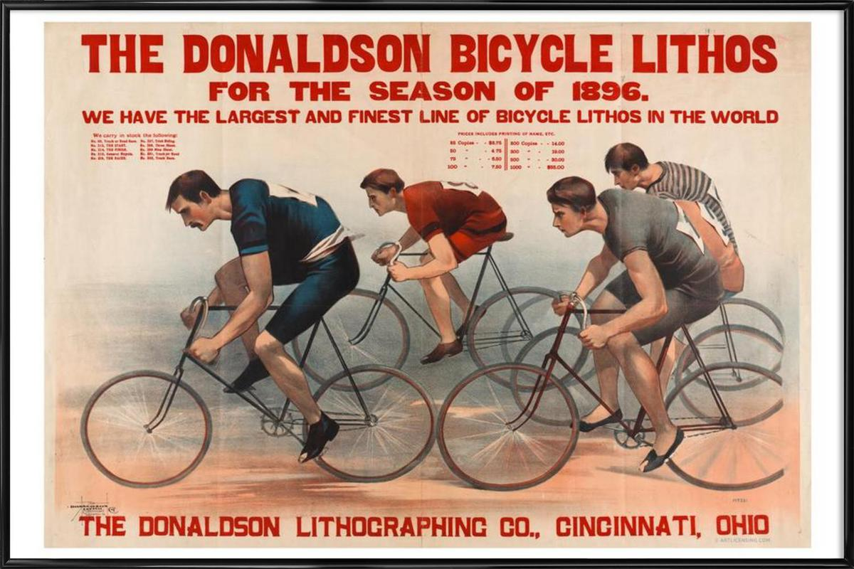 Donaldson Bicycle affiche encadrée